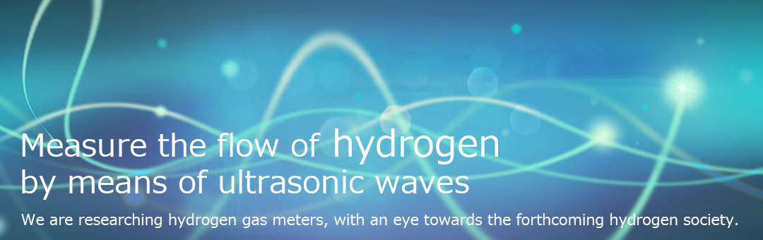 Measure the flow of hydrogen by means of ultrasonic waves